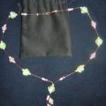 Collana Perle Giapponesi Verdi