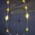 Collana Perle Giapponesi Gialle