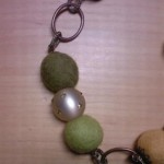 Collana Feltro Verde - Particolare