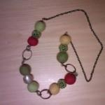 Collana Verde Gialla e Rossa