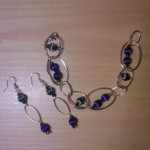 Orecchini Perle fili di seta