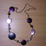 Collana forme lilla, viola e viola scuro