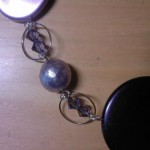 Collana forme lilla, viola e viola scuro - Partico