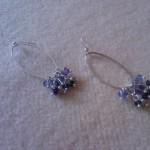 Orecchini swarovsky tanzanite e viola